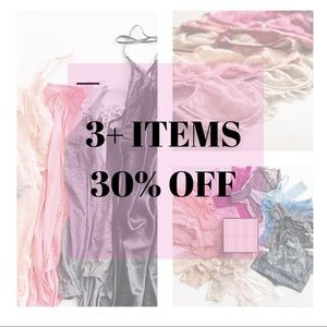 30% OFF 3 items or more